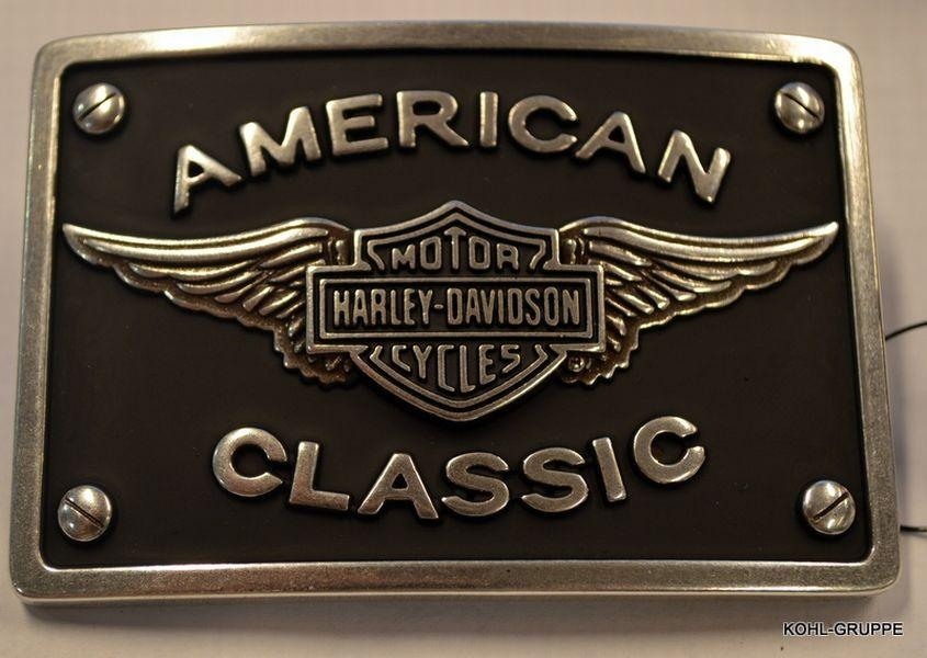 hd harley davidson g rtelschnalle buckle american classic. Black Bedroom Furniture Sets. Home Design Ideas