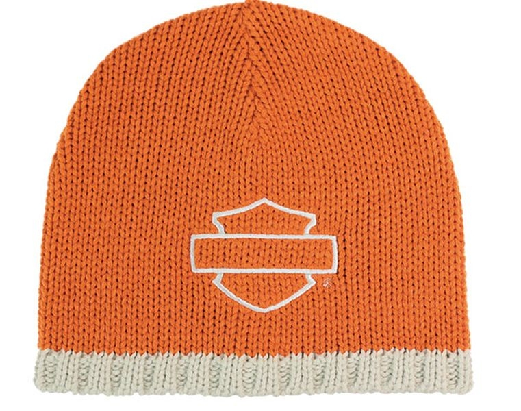 "s Logo/""//Knit Cap B /& s H-D Aachen HD Harley-Davidson Casquette Orange /""b"