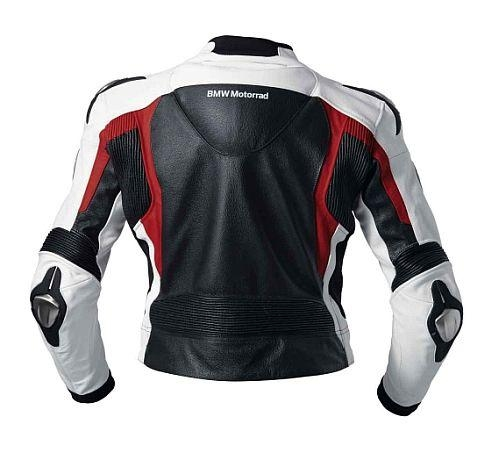 bmw motorrad herren jacke lederjacke sport 2 schwarz wei rot gr 50 ebay. Black Bedroom Furniture Sets. Home Design Ideas